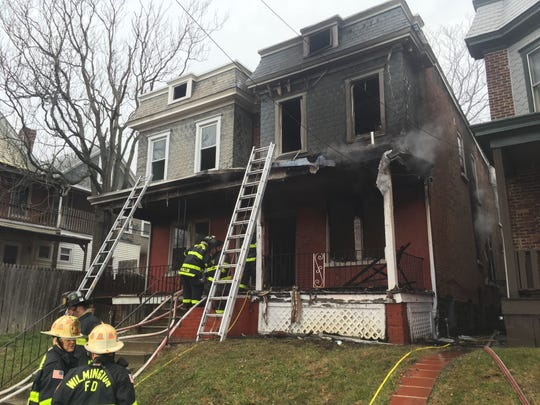 Wilmington firefighters put out a fire in a semi-detached home in the Brandywine Village neighborhood.