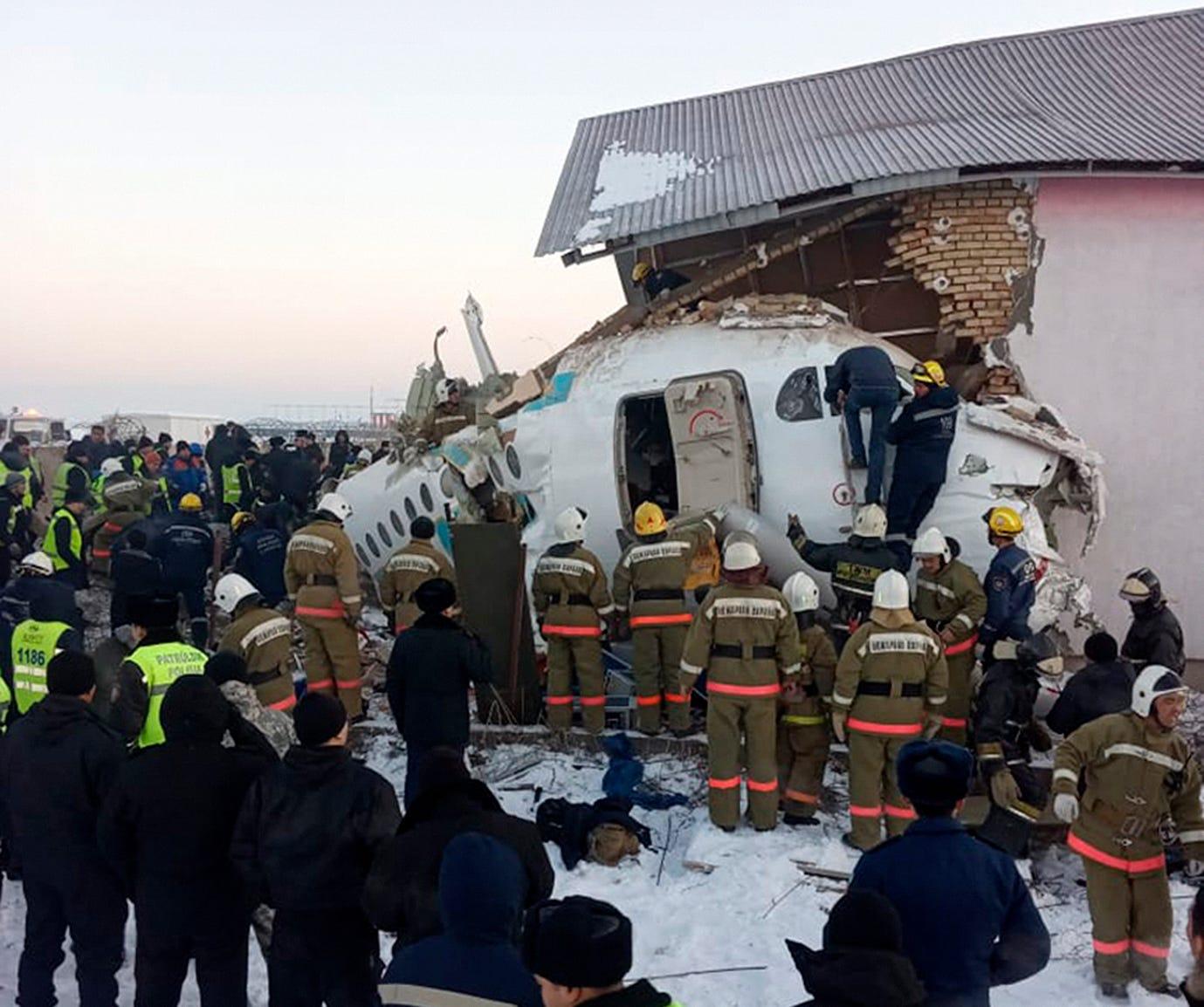 Image result for Bek Air Fokker 100 air crash