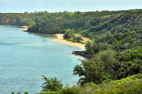 Kauai, Hawaii, a largely uninhabited island that features a state park, is a popular tourist destination.