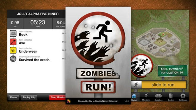 The unique exercise Zombies, Run! app combines fitness with a sci-fi thriller audio tale.
