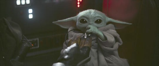 """The Child (or, """"Baby Yoda"""") in Chapter 8 of Disney+ original series The Mandalorian"""