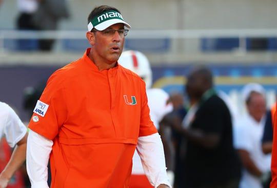 Former Miami Hurricanes offensive coordinator Dan Enos prior to the season opener.