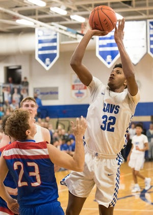 Chillicothe senior Jayvon Maughmer shoots the ball during a 65-49 win over Zane Trace at Chillicothe High School on Dec. 27, 2019.