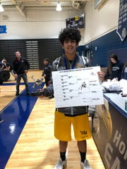 Wrestling 2020 Watchung Hills John Dusza wins the Walter Woods Classic