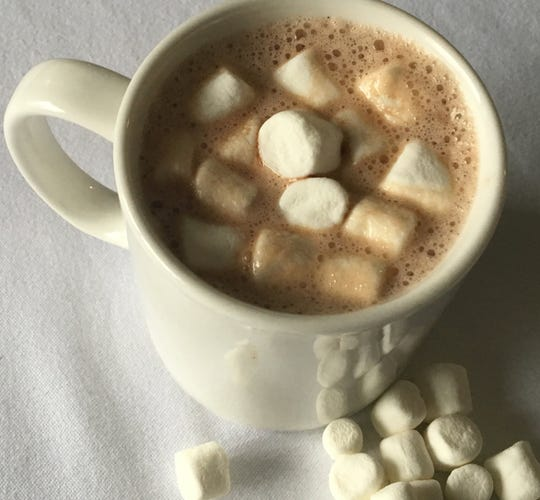 Hot chocolate will be available on Friday afternoon at Champlain Street Park in Burlington.