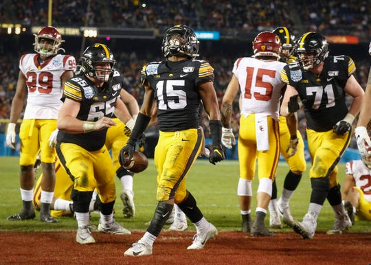 Tyler Goodson will enter his first spring at Iowa as the unquestioned No. 1 running back after leading Iowa in rushing as a true freshman. It'll be more interesting to see how the lineup shapes up behind him.