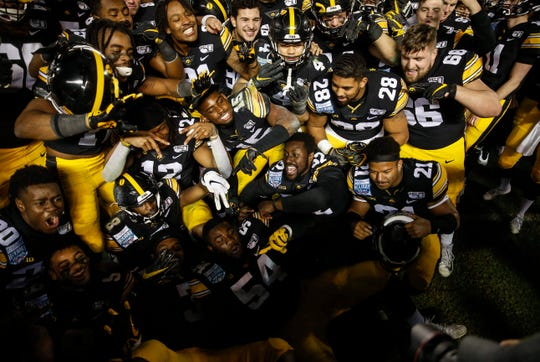 The last image of Hawkeye football we've had was the celebration after the 2019 Holiday Bowl win against USC.