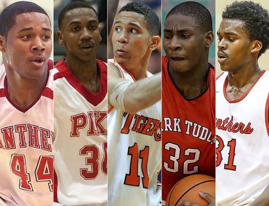 Left to right: D'Vauntes Smith-Rivera, Marquis Teague, Nic Moore, Jaren Jackson Jr. and Kris Wilkes