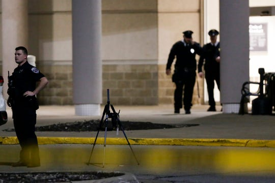 Lafayette Police are investigating a shooting in the parking lot of the Tippecanoe Mall near the Kohl's and Macy's, Friday, Dec. 27, 2019 Mall in Lafayette.