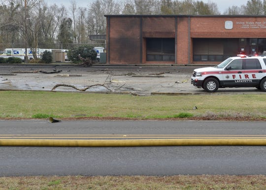 A small aircraft crashed just after 9 a.m. Saturday, Dec. 28, in Lafayette, La. The crash site includes the US Post Office on Feu Follet road.