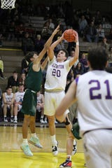 Lexington's Max Waldruff led the Minutemen with a huge double-double scoring 12 points and grabbing 15 rebounds in a win over Madison on Friday night.