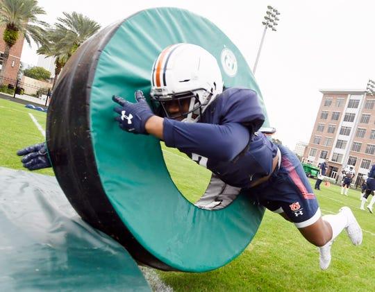 Auburn running back D..J. Williams during drills Saturday, Dec. 28, 2019 in Tampa, FL.