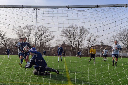 A law enforcement charity soccer tournament to benefit the family of Jersey City Detective Joseph Seals at Athenia Steel Park on Saturday, December 28, 2019.