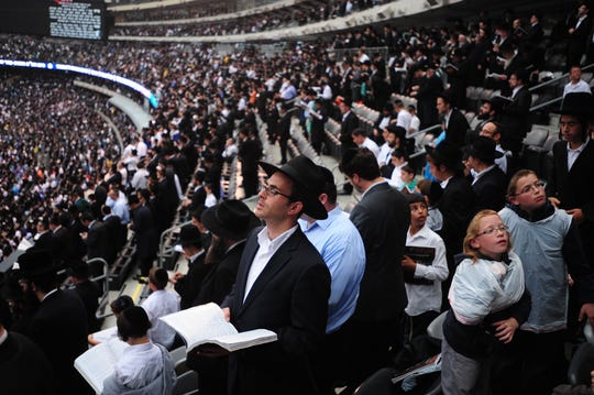 More than 90,000 men and women gathered together at MetLife Stadium on Wednesday, August 1, 2012 to celebrate the completion of 7- 1/2 years of learning to the completion of the Talmud. The next celebration is on Jan. 1, 2020.