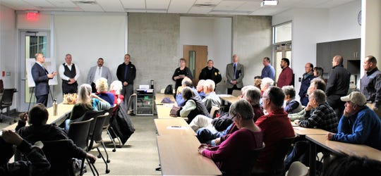 It was a packed house at the East Mesa Public Safety Complex with residents and City staff on Tuesday, Dec 10, 2019. Staff answered questions from residents and outlined the steps going forward in 2020 with the waste excavation at the CLC Lohman Property (Pre-1965 Foothills Landfill) dumpsites near Lohman Avenue.