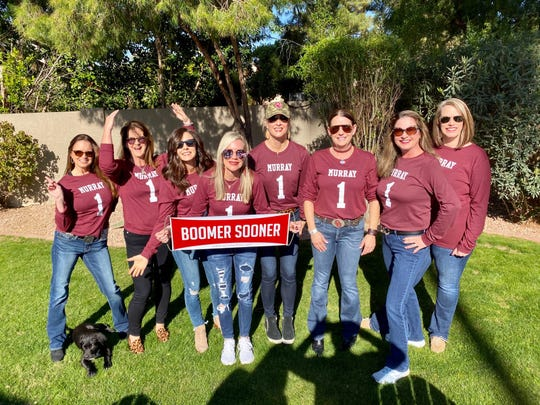 A group of Oklahoma fans traveled to State Farm Stadium to cheer on both Kyler Murray and Baker Mayfield.