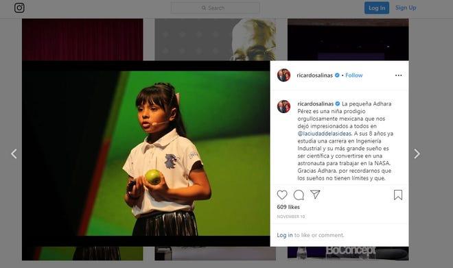 A screenshot of Ricardo Salinas Pliego's Nov. 10 post on Instagram.