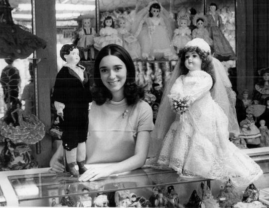 Linda Greenfield, shown in 1974, opened the Chili Doll Hospital and Victorian Doll Museum after she graduated from high school.