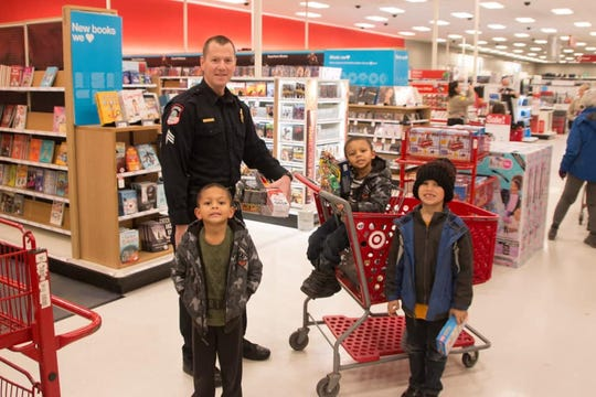 Brandon Valley sergeant Alex Palmer at the Heroes and Helpers event at the east side Sioux Falls Target on Dec. 17.