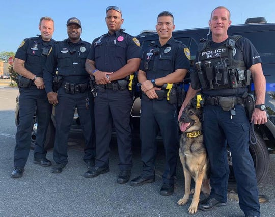From TPD's Facebook page: TPD is ready for #LivePD. Officers Phil Hinds, Justin Hill, Tri Dinh, & Officer Brian Smith with K-9 Evo are returning this weekend. Joining them is Officer Damon Miller (in the middle)! Join us at 8 p.m. on A&E. See you on the streets of #Tallahassee!