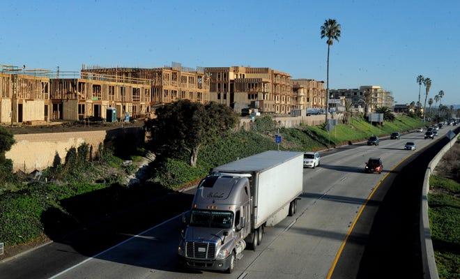 Apartments under construction along Sanjon Road near Highway 101 in Ventura.