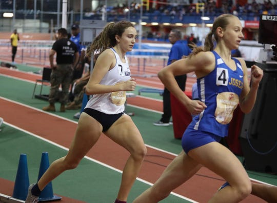 Bronxville's Eve Balserio competes in the 800-meter invitational at the Marine Corps Holiday Classic at The Armory New Balance Track & Field Center in New York on Saturday, December 28, 2019.