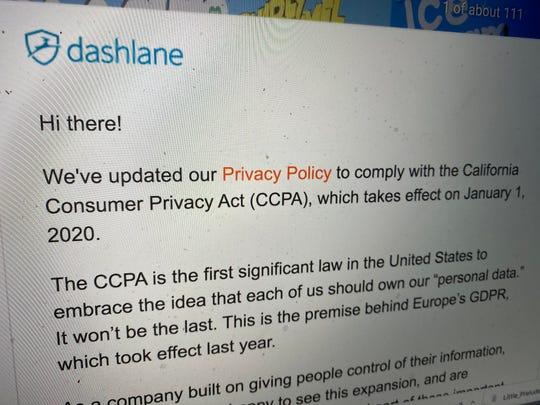 Dashlane's privacy policy update