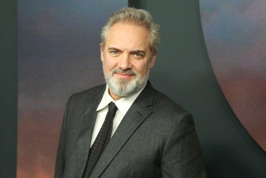 "Director Sam Mendes on Dec. 18, 2019 at the Los Angeles premiere of ""1917."""