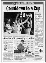 Cup celebration