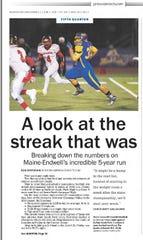 M-E football streak