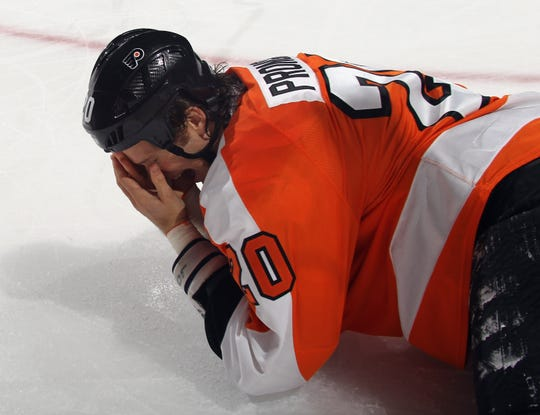 Chris Pronger took a stick to his right eye in 2011, which marked the beginning of the end of his playing career.