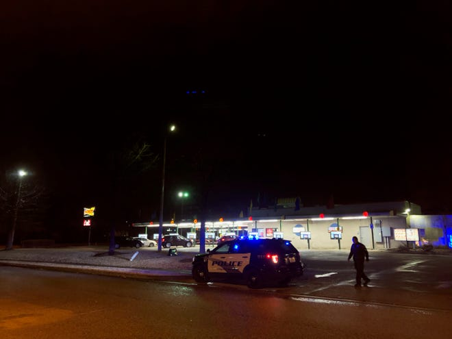 Jackson police investigate a shooting incident at the Sonic parking at University Parkway on Dec. 28, 2019 in Jackson, Tenn.