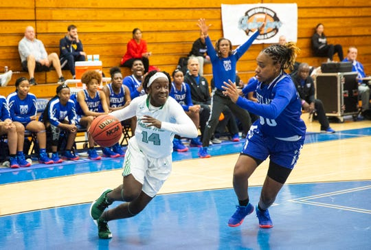 Fort Myers High School girls basketball team plays against Westlake High School during the first day of the 21st annual Naples Holiday Shootout at Barron Collier High School.