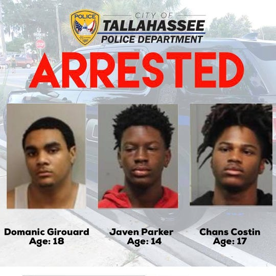 TPD, citing its policy of not naming minors who have been charged with only a misdemeanor, identified three of the suspects in a string of car burglaries and shooting in North Tallahassee