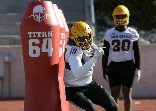 Arizona State held a light practice on Sunday in preparation for their Tony the Tiger Sun Bowl game against Florida State.
