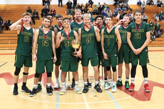 Kingsburg takes first place in the Polly Wilhelmsen Championship game at the Charles Marshall Court on Saturday Dec 28, 2019.