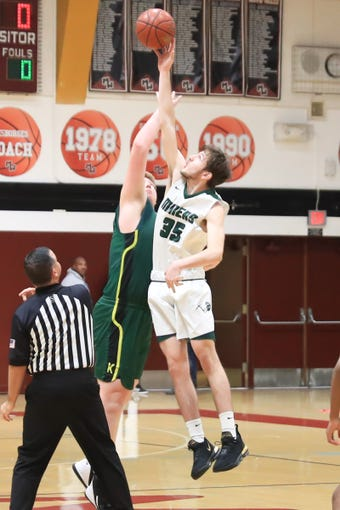 El Diamante competes against Kingsburg in the Polly Wilhelmsen Championship game at the Charles Marshall Court on Saturday Dec 28, 2019.