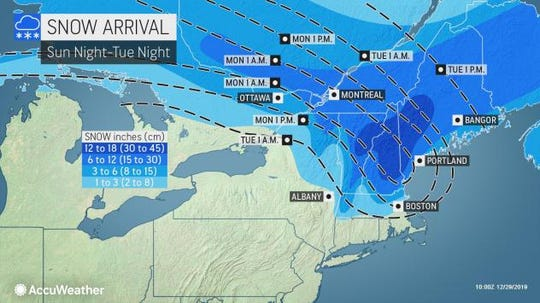 Snow and ice are headed for New England.