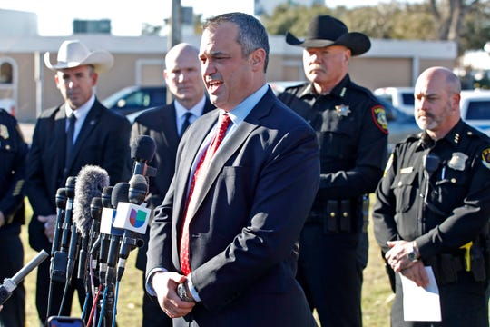 Matthew DeSarno with the FBI in Dallas, gives an update on the situation after a shooting at West Freeway Church of Christ on Dec. 29, 2019 in White Settlement, Texas.
