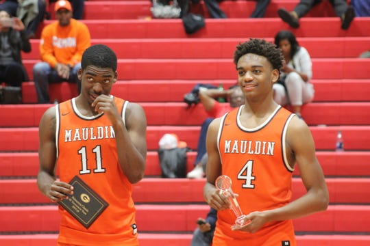 Mauldin's Kaleb Mack (11) was named to the All-Tournament team and Jameson Tucker (4) was named tournament MVP.