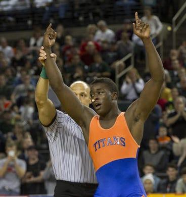 Tyree Sutton of Keansburg was the 2015 NJSIAA 195-pound champion