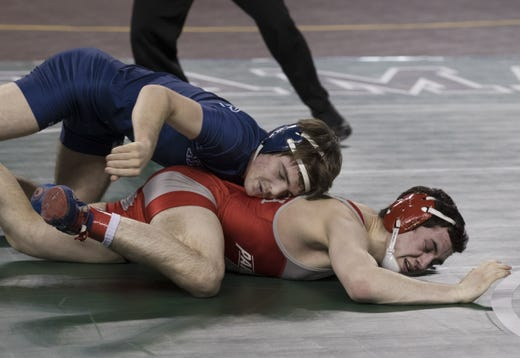 Howell's Kyle Slendorn (top) was a two-time NJSIAA runner-up