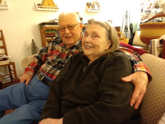 Dick and Anita Shipway relax inside their Endwell home. The couple are longtime volunteers for several organizations including the Nanticoke Historical Society.