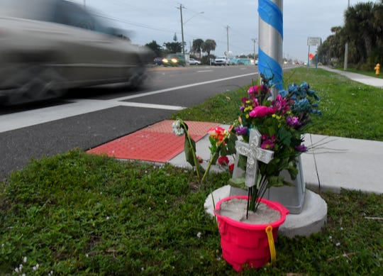 Pictured is the pedestrian crosswalk on A1A where 12-year-old Sophia Nelson, who died from her injuries, was struck by a vehicle on Dec. 22.