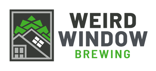 """Logo for South Burlington-based Weird Window brewing, created in 2019. The white window set at 45 degrees in the stylized roof line is commonly called a """"Vermont window"""" or a """"witch window."""""""