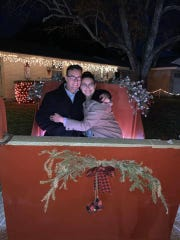 Veronica and George Salinas got engaged at Candy Cane Lane last year.