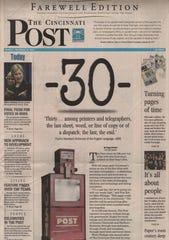 DECEMBER 31, 2007: The final edition of The Cincinnati Post.