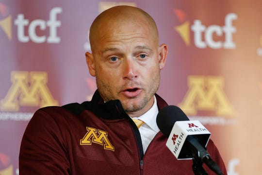 Minnesota head coach P.J. Fleck