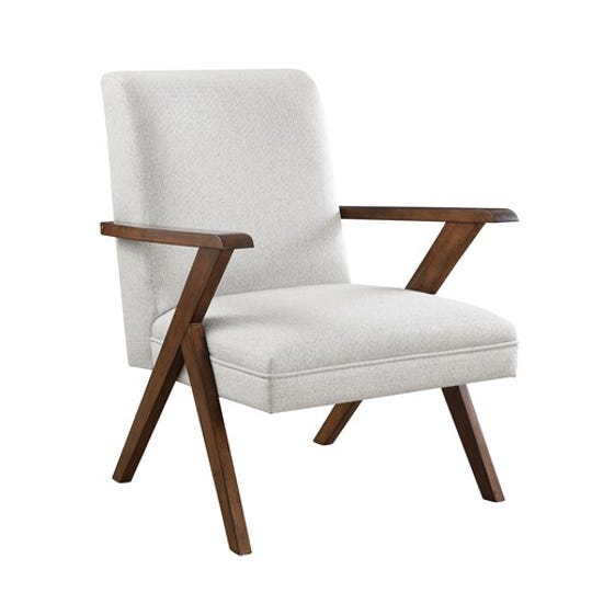 The Scott Living Oasis Chatham Accent Chair features faux leather and kiln dried wood. It's regularly $299.