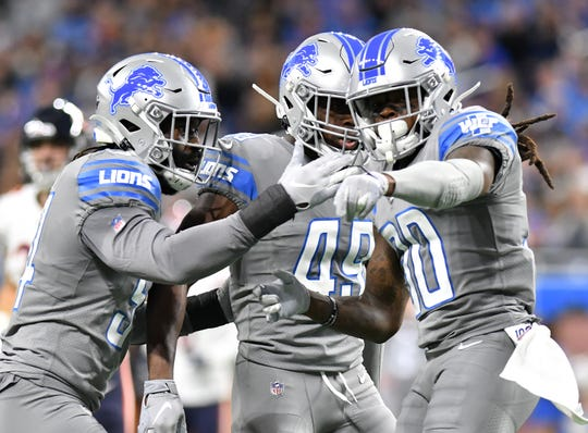 The Lions' C.J. Moore (49) played in all 16 games as a rookie.